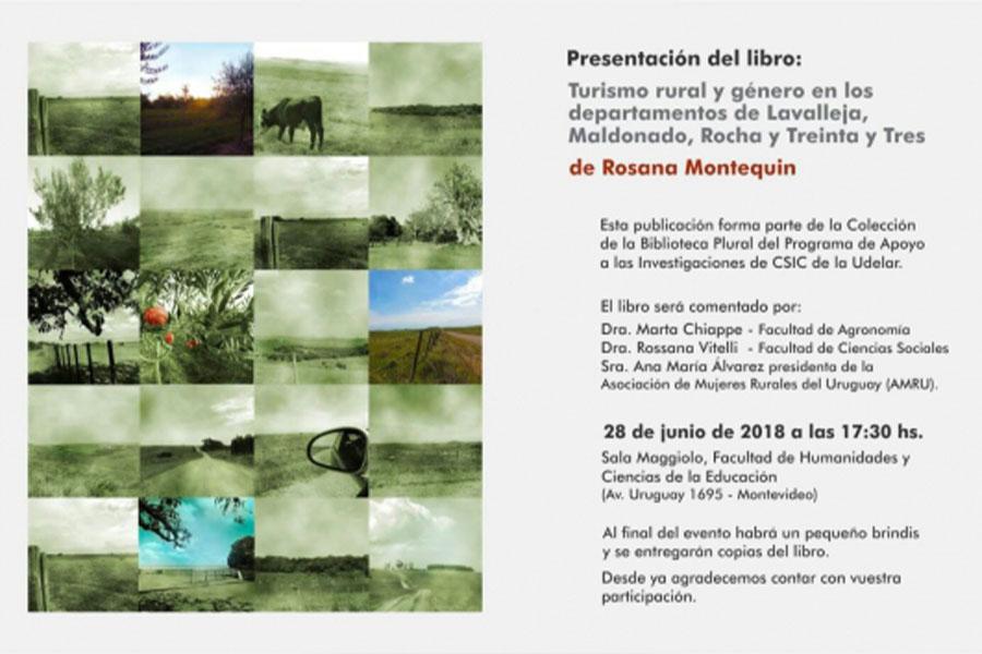 Presentación del libro: «Turismo rural y género en los departamentos de Lavalleja, Maldonado, Rocha y Treinta y Tres»