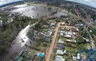 Inundación en la ciudad de Treinta y Tres